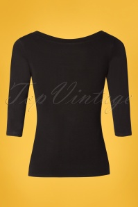 TopVintage Boutique Collection 28788 Black Bow Top 20190122 007W