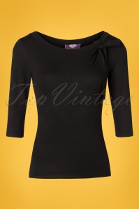TopVintage Boutique Collection 50s Janice Top in Black