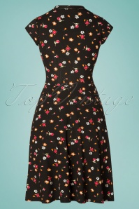 TopVintage Boutique Collection 28922 Black Floral Dress 20190122 007W