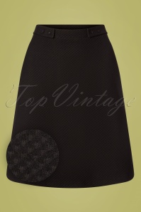 Who's That Girl 60s Toppie Girl Skirt in Black