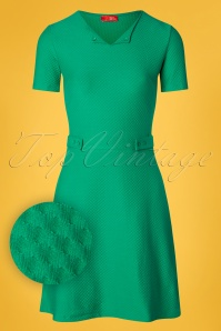 Who's That Girl 60s Sweet Girl Dress in Fern Green