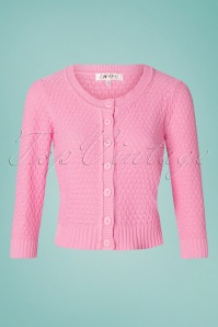 Mak Sweater 50s Jennie Cardigan in Light Pink