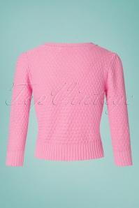 MAK Sweather 28895 50s Jennie Pink Cardigan 20190122 006W