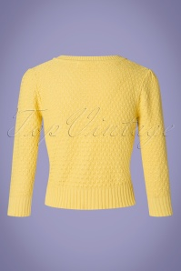 MAK Sweather 28895 50s Jennie Yellow Cardigan 20190122 006W