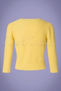 MAK Sweather 28895 50s Jennie Yellow Cardigan 20190122 006W