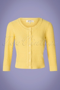 MAK Sweather 28895 50s Jennie Yellow Cardigan 20190122 002W