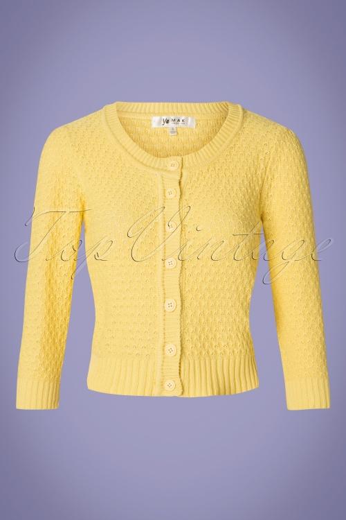MAK Sweather 28895 50s Jennie Yellow Cardigan 20190122 002W
