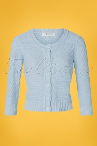 Mak Sweater 50s Jennie Cardigan in Light Blue