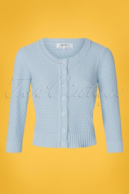 MAK Sweather 28899 50s Jennie Blue Cardigan 20190122 002W