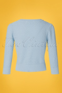 MAK Sweather 28897 50s Jennie Blue Cardigan 20190122 006W