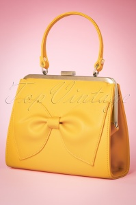 TopVintage boutique collection 27689 Yellow bow bag 20190122 008W