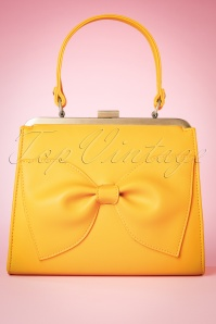 TopVintage boutique collection 27689 Yellow bow bag 20190122 003W