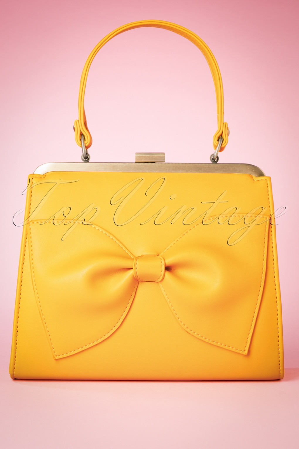 1960s Style Dresses, Clothing, Shoes UK 50s Inez Sunshine In My Pocket Handbag in Yellow £54.50 AT vintagedancer.com