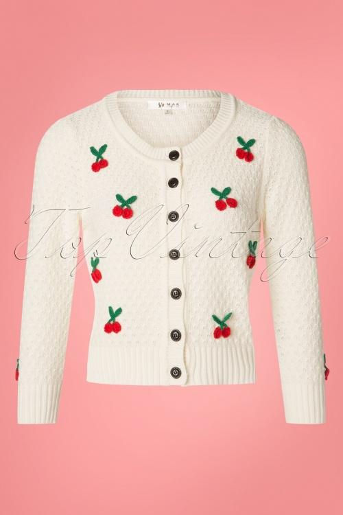 MAK Sweather 24966 50s Jennie Cherry Cardigan 20190122 001W