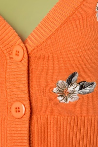 Banned 28568 Tiki Floral Cardigan in Orange 20181218 003W