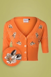 Banned 28568 Tiki Floral Cardigan in Orange 20181218 001W1