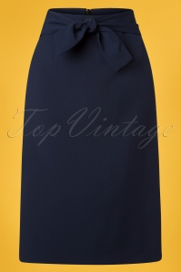 Banned 28519 Tropical Day Skirt Navy 20181219 002W