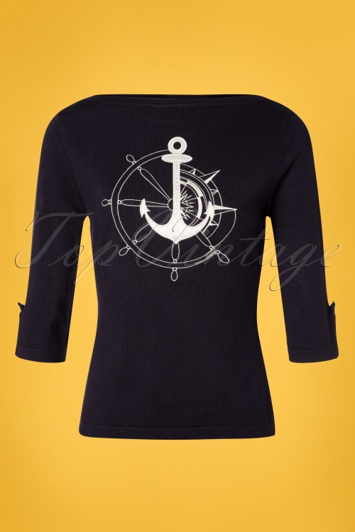 Banned 28575 Anchors Away Jumper Navy 20181219 007W