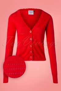 Banned 28571 Pointelle Cardigan in Red 20181218 004W1