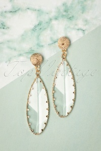 50s See Right Through Me Earrings in Gold