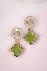 Glamfemme 29123 Earrings in Green 20190118 008W
