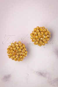 60s Small Earrings in Honey