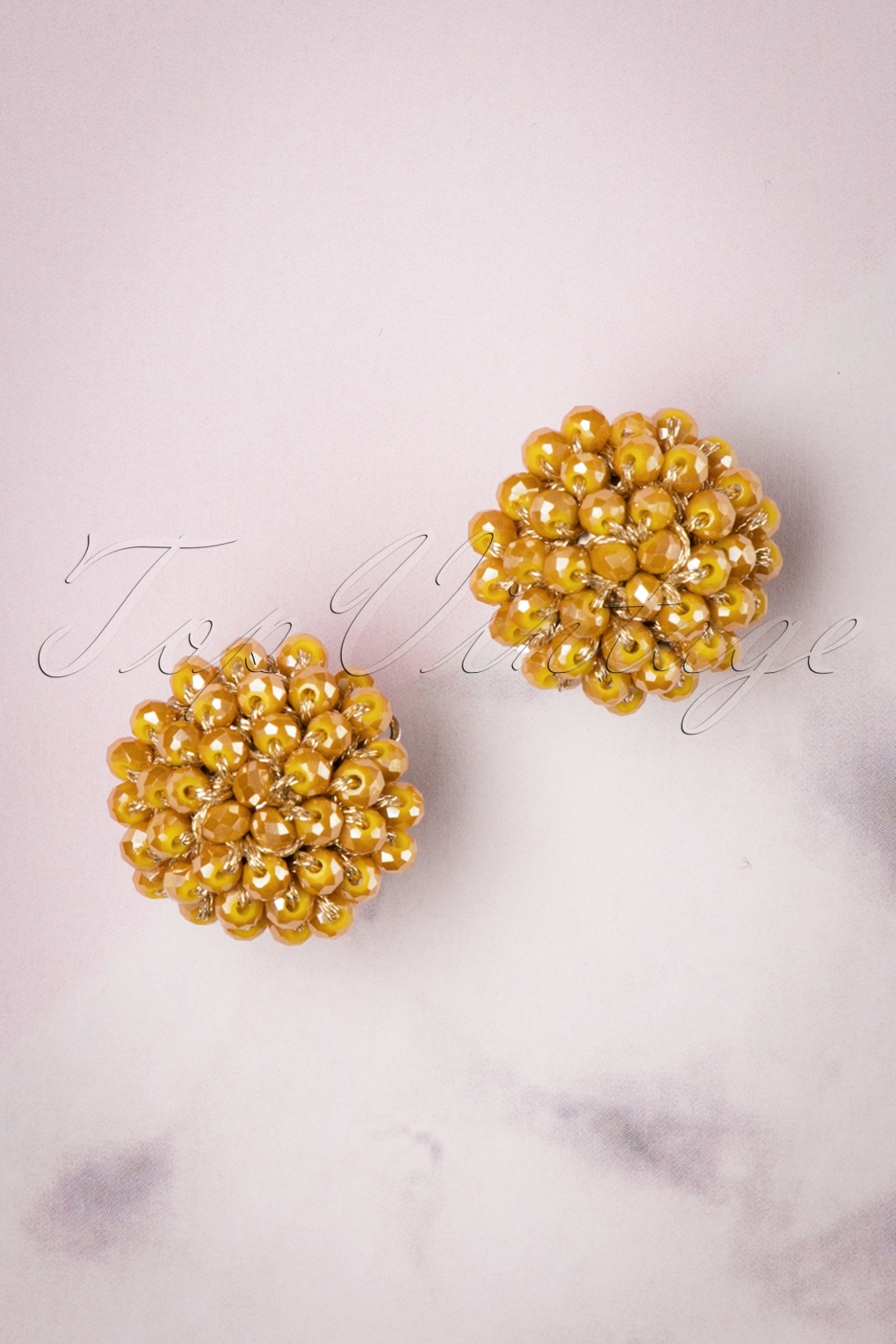 1960s Style Dresses, Clothing, Shoes UK 60s Small Earrings in Honey £8.61 AT vintagedancer.com