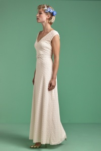 King Louie 50s Ella Romance Wedding Maxi Dress in Cream