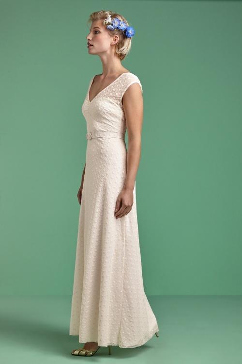 Ella In 50s Wedding Maxi Dress Romance Cream rxoeBdCW