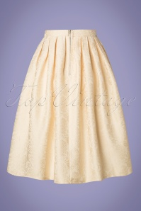 Banned Retro 28530 Finding Florida Cream Jacquard Skirt 20190123 003W