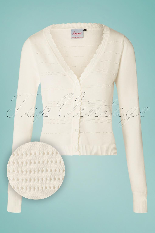 Bolero de viscose élégant manches longues Crème Ivory ou Crème Blanc