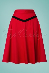 Banned 28456 Rockin Red Swing Skirt 20181219 001W
