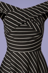 Banned 28485 Pier Stripe Jersey Dress in Black 20181220 011V