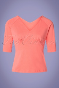 50s Betty Top in Peach Pink