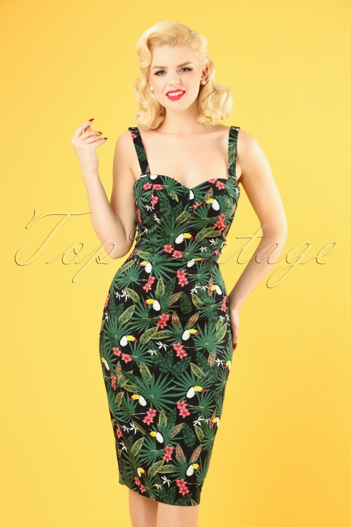 Collectif Clothing 27413 Kiana Tropicalia Dress 20181220 025W