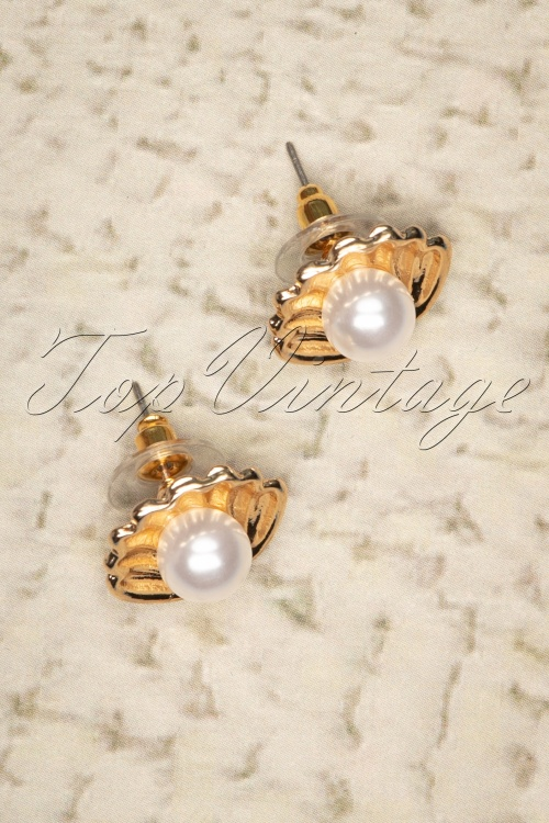 Darling Divine 28989 Earrings Golden Shell Pearl 20190121 006W
