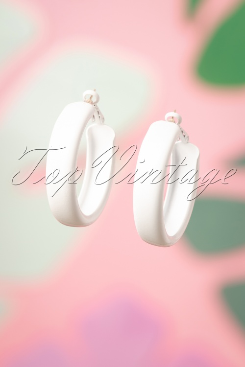 Darling Divine 28998 Earrings White Hoops 20190121 011W