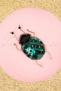 60s Shila Bug Brooch in Petrol