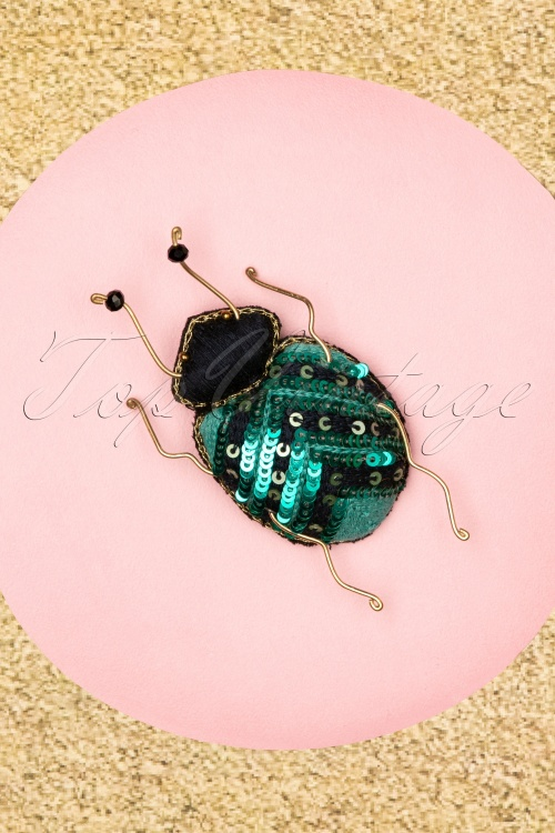 Darling Divine 28980 Broche Blue Green Beatle 20190121 001W