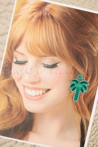 Darling Divine 28996 Earrings Palmtree Green Turqoise 20190121 001W