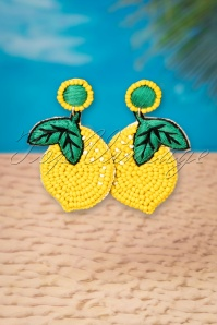 My Delicious Lemon Earrings Années 60 en Jaune