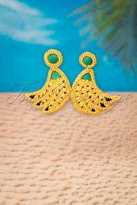 My Happy Banana Earrings Années 60 en Jaune