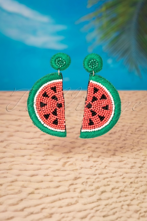 Darling Divine 28988 Earrings Melon Watermelon Green Red 20190121 005W