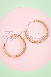 Darling Divine 28987 Earrings Brown Hoops Sand Wicker 20190121 008W