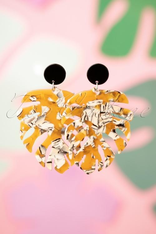 Darling Divine 28983 Earrings Leaf Brown Marble 20190121 010W