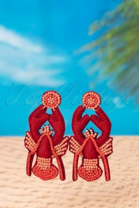 Darling Divine 60s My Adorable Lobster Earrings in Red