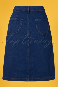 King Louie 27126 Angie Skirt Denim in Jet Blue 20190115 007W