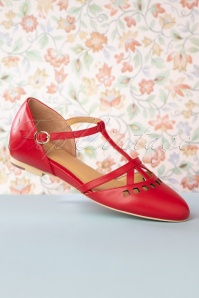 Charlie Stone 27864 Red Tstrap Flat Valerie 20190128 010W