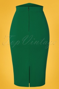 Vintage Chic 28732 Emerald Pencil Skirt 20190129 007W
