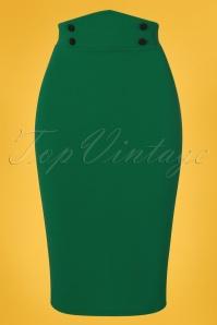 Vintage Chic 28732 Emerald Pencil Skirt 20190129 002W